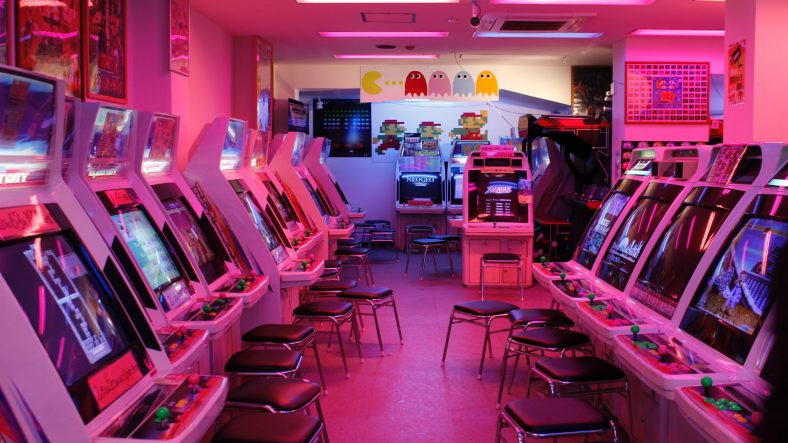 Arcade machines with stools